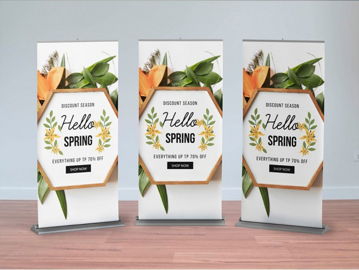 Banners y porta banner Roll up - Lona front