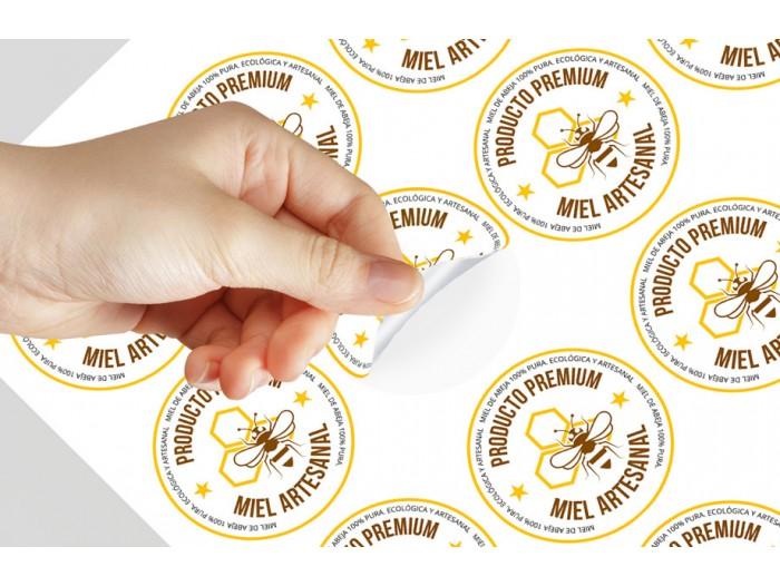 500 Etiquetas Adhesivas Troqueladas PVC
